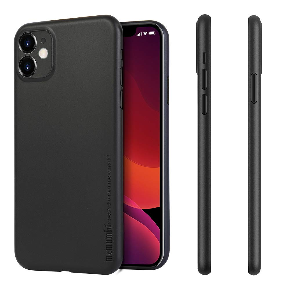memumi Super Light Slim for iPhone 11 2019 Case, [0.3 mm] Matte Finish Back Cover Case Compatible with iPhone 11 Eleven Thin Fit Phone Case Minimal Design with Fingerprint Resistant (Matte Black)