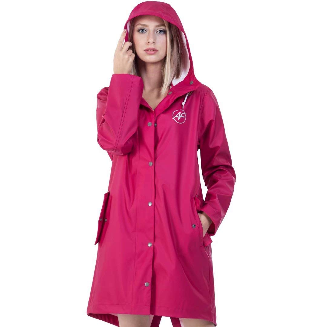 Andes Forest Women's Raincoat with Hood Lightweight Windbreaker Rain Jackets