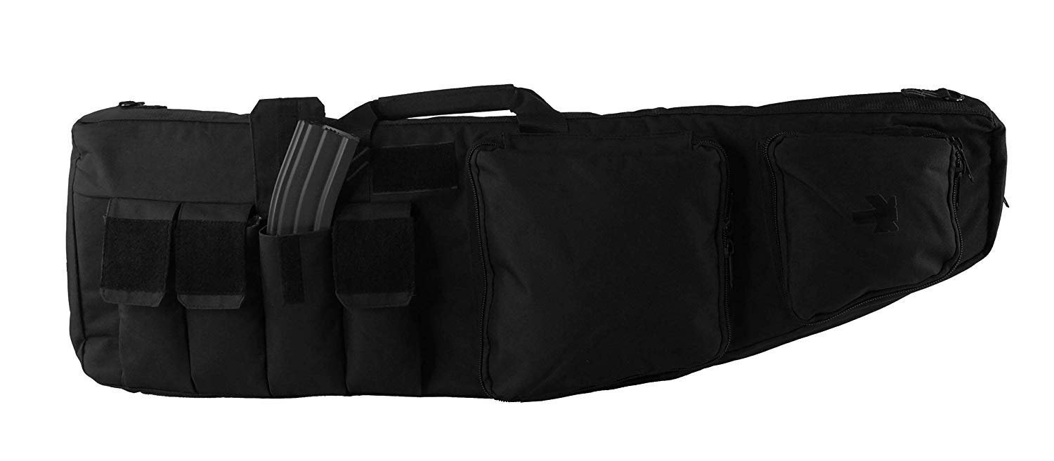 Tactical Double Long Rifle Backpack Gunbag   Lockable Zippers   Quality Padded Case Bag Water Resistance