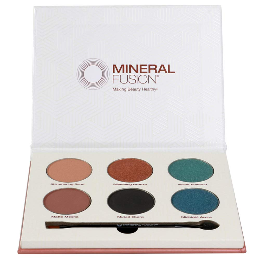 Mineral Fusion, Limited Edition Velvet Eye Shadow Palette, Multi Colors, 1 Count