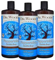 Dr. Woods Pure Peppermint Liquid Castile Soap, 32 Ounce (Pack of 3)