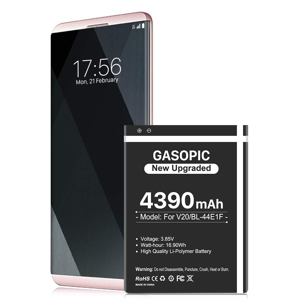 LG V20 Battery, [Upgraded] 4390mAh BL-44E1F High Capacity 0 Cycle Battery Replacement for H910 H918 LS997 US996 VS995 V20 Spare Battery - [18 Month Warranty]