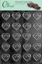 Cybrtrayd V098 Rose Heart Mint Valentine Chocolate Candy Mold, Bite Size