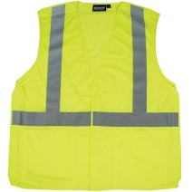 ERB 61101 S320 Class 2 5 Point Break Away Safety Vest, Lime, Large