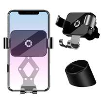 Zuton Gravity Car Phone Mount, Air Vent Clip Car Phone Holder,One-Handed Design Car Phone Cradle Auto-Lock and Release, Compatible with iPhone XS/Max/XR/X/8/7/6 Plus Galaxy S10/S9