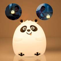 Night Lights for Kids, Mubarek Nightlights for Children,Cute Bear Animals Nursery Soft Silicone Toddler Lamp for Girls/Baby, Portable Travel Rechargeable Color Changing Child Light, Birthday Gifts
