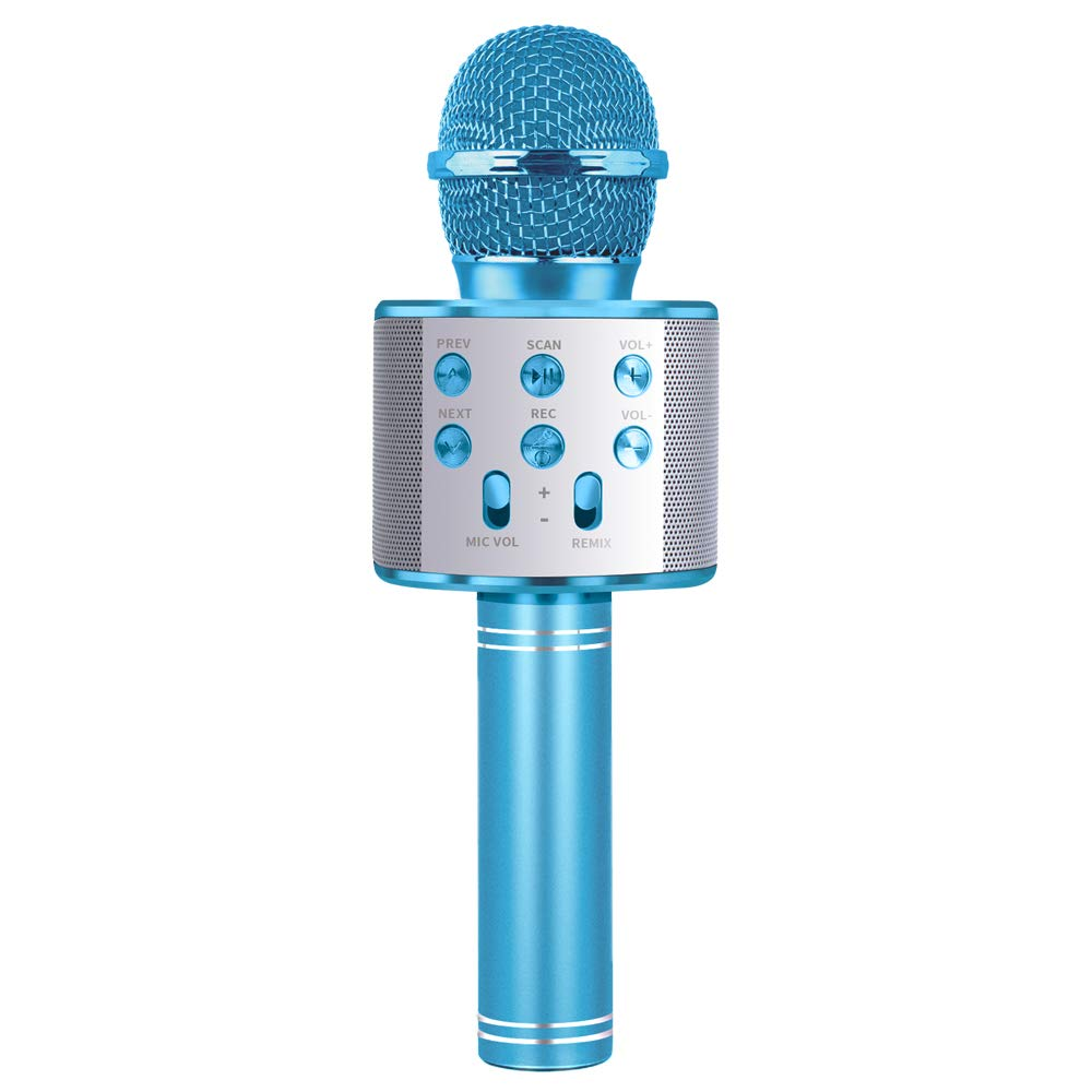 LITTLEFUN Gift for 4-12 Year Old Girls,Karaoke Microphone Toy for 4-12 Year Old Boy Girl Kids Bluetooth Microphone Birthday Gift Age 3-12 Boys Girls Kids Child Birthday Present Age 3-12