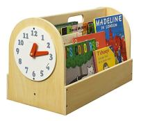 Tidy Books - Portable Kids Bookshelf | Book Box Children | Natural | Wooden Box with Play Clock | Montessori Materials | 13.8 x 21.7 x 12.2 | ECO Friendly | Handmade | The Original Book Box