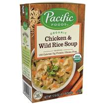 Pacific Foods Organic Chicken with Wild Rice Soup, 17.6-Ounce Cartons, 12-Pack