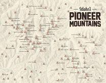 Best Maps Ever Pioneer Mountains (Idaho) Climbers' Map 11x14 Print (Tan)