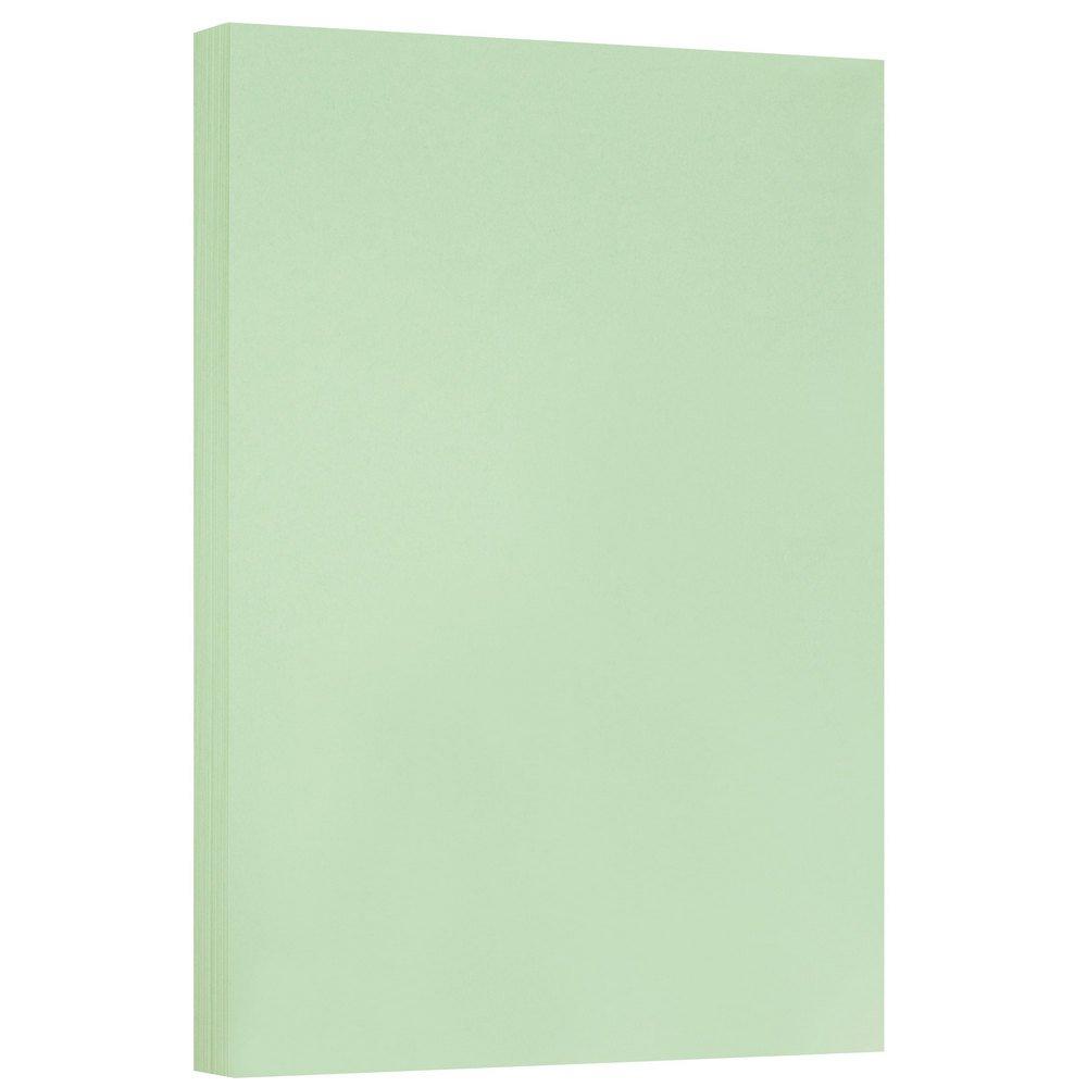 JAM PAPER Vellum Bristol 67lb Cardstock - 11 x 17 Ledger Size Coverstock - Green - 50 Tabloid Sheets/Pack