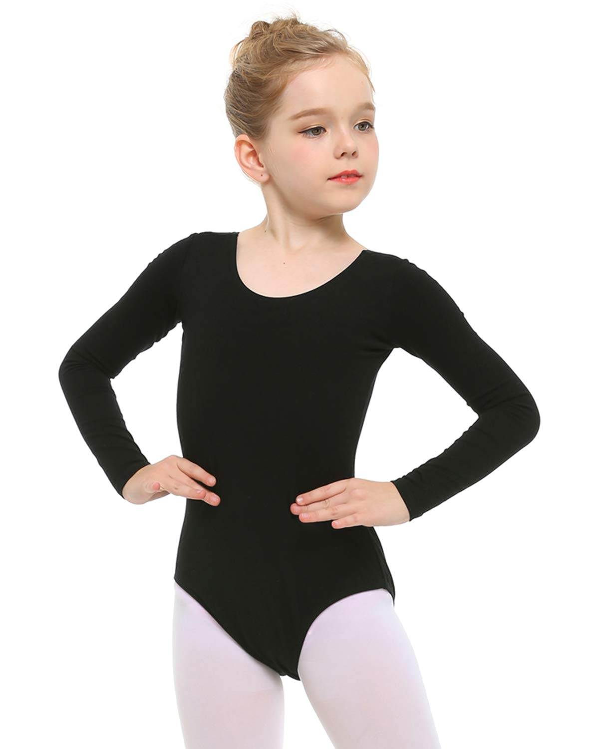 STELLE Girls Long Sleeve Team Basic Leotard Ballet Dance Gymnastics