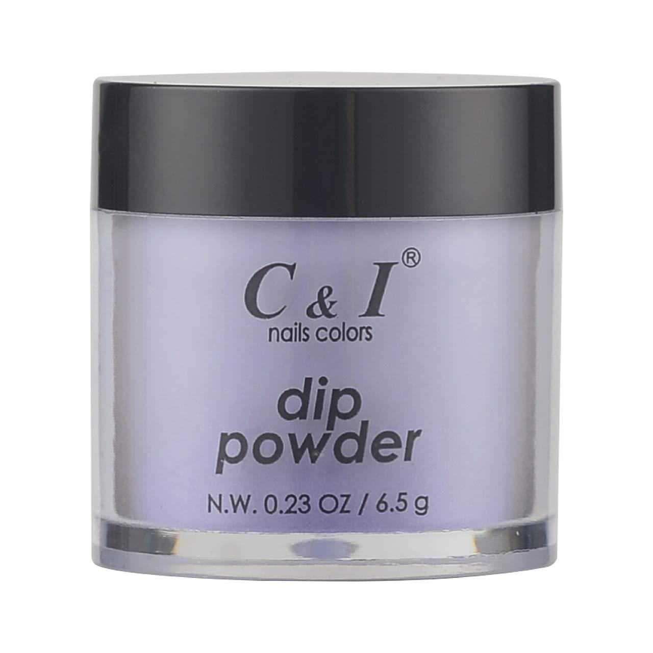 C & I Dipping Powder, Nail Colors, Gel Effect, Color # 60 Bluish Violet, 0.23 oz, 6.5 g, Purple Color System (1 pc)