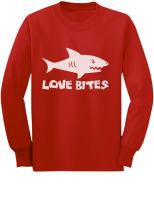 Love Bites Funny Valentine's Day Outfit Youth Kids Long Sleeve T-Shirt