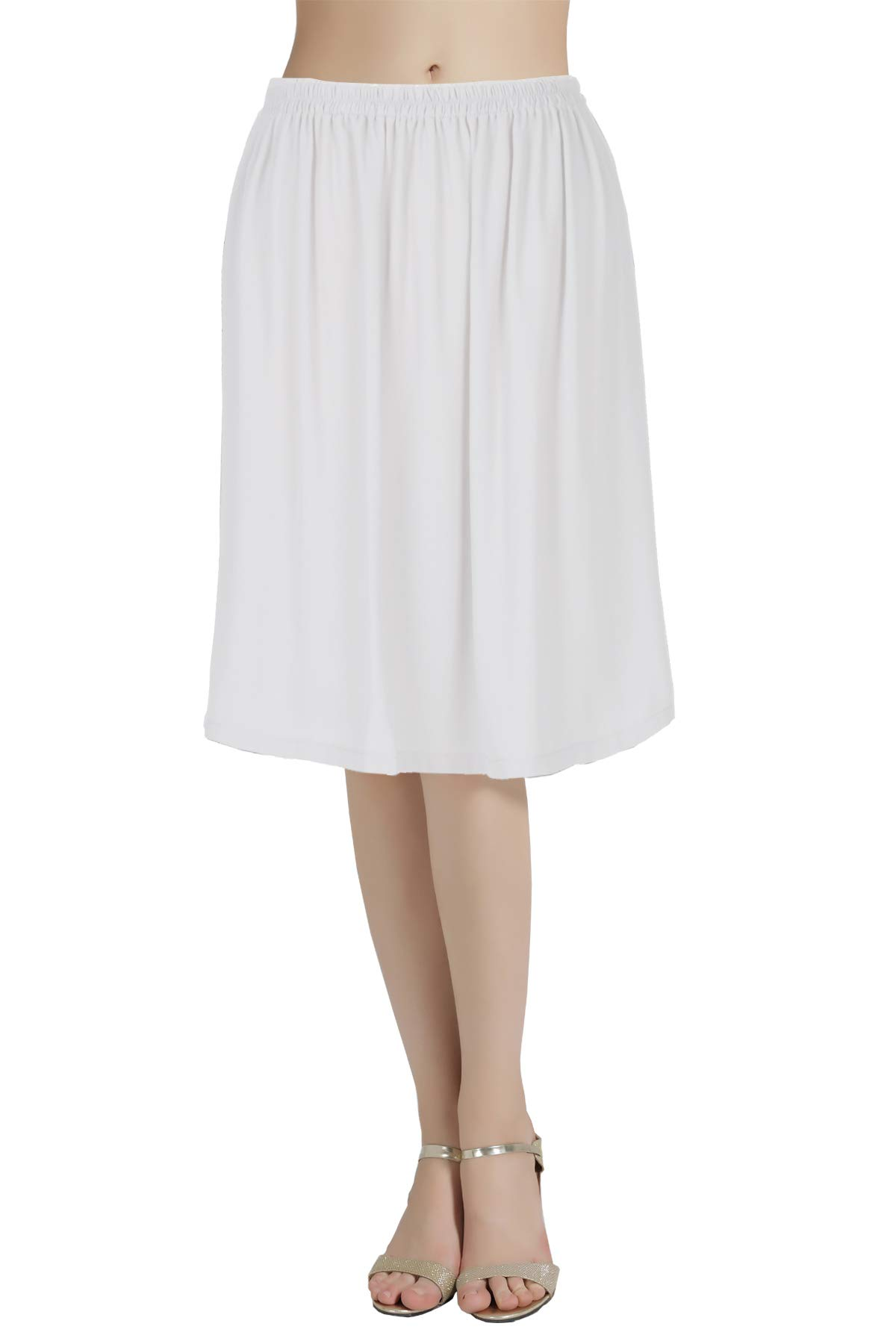 BEAUTELICATE Half Slip Chiffon Underskirt Snip Anti-Static-It Adjustable Waist in 4 Different Length