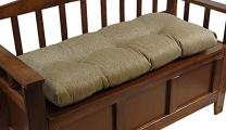 "Klear Vu The Gripper Non-Slip Tufted Omega Universal Bench Cushion, Gold, 36"""
