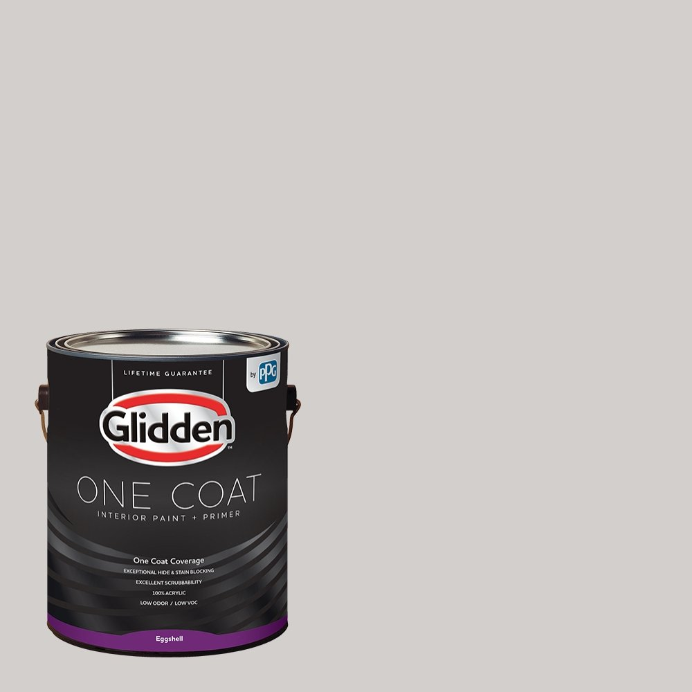 Glidden Interior Paint + Primer: Gray/Elusion, One Coat, Eggshell, 1-Gallon