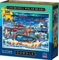 Dowdle Jigsaw Puzzle - Churchill Polar Bears - 500 Piece
