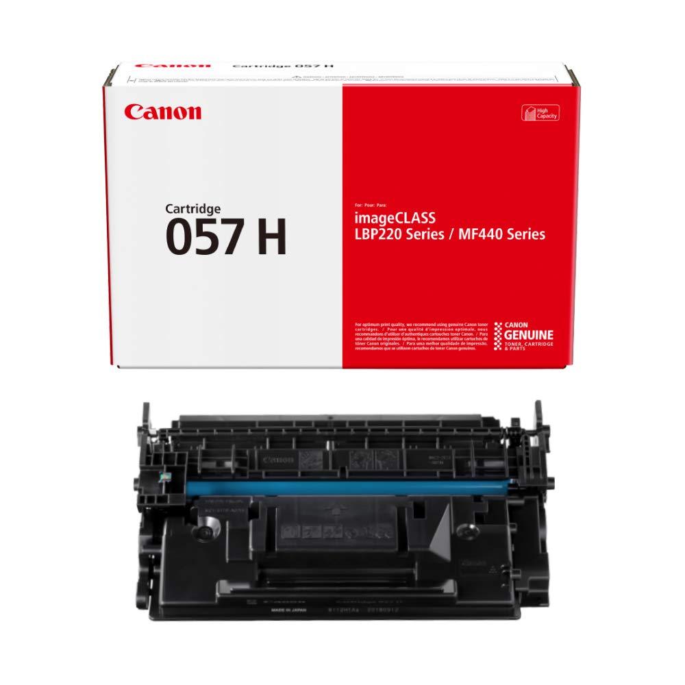 Canon Genuine Toner Cartridge 057 Black, High Capacity (3010C001), 1-Pack, for Canon imageCLASS MF449dw, MF448dw, MF445dw, LBP228dw, LBP227dw, LBP226dw Laser Printers (057 H)