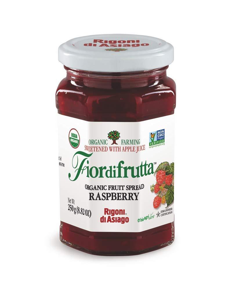 Rigoni di Asiago Fiordifrutta Organic Fruit Spread, Raspberry, 6 Count