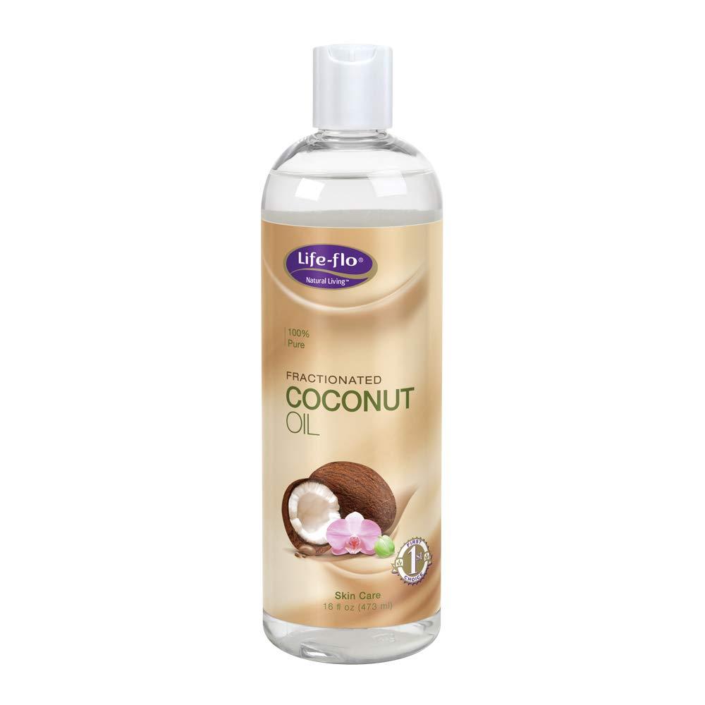 Life-Flo Coconut Oil, Fractionated | Light, Non-Greasy, Fast-Absorbing Face & Body Oil | For Dry Skin & Hair | Paraben-Free | 16 Fl Oz