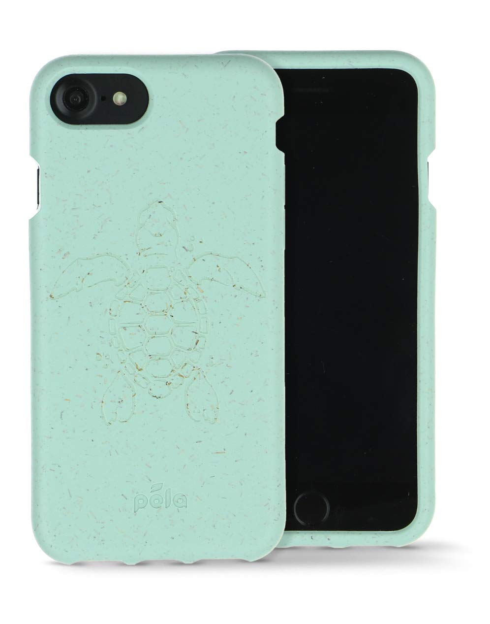 Pela: Phone Case for iPhone 6/6s/7/8/SE - 100% Compostable and Biodegradable - Eco-Friendly - Made from Plants (6/6s/7/8/SE Ocean Turtle)