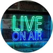 """ADVPRO On Air Live Recording Studio Video Room Dual Color LED Neon Sign Green & Blue 24"""" x 16"""" st6s64-i3064-gb"""