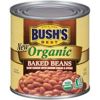 BUSH'S BEST Organic Baked Beans, 16 Ounce Can (Pack of 12), Canned Beans, Baked Beans Canned, USDA Certified Organic, Source of Plant Based Protein and Fiber, Low Fat, Gluten Free