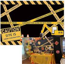 Allenjoy 7x5ft Under Construction Site Theme Backdrop for Photography Dump Truck Digger Zone Boys Birthday Party Supplies Construction Scene Photo Background Photobooth Props
