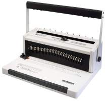 TruBind Wire Binding Machine - TB-W20A - Affordable in-Office Book Binding - Uses 3:1 Wire-Loop Binding - Hole Punch up to 20 Sheets - Adjustable and Portable - Binds up to 120-Pages