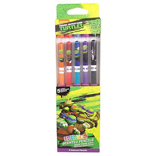 Teenage Mutant Ninja Turtles Colored Smencil 5-Pack of Scented Colored Pencils by Scentco