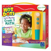 Educational Insights Hot Dots Let's Master 1st Grade Math Set, Homeschool, 2 Books & Interactive Pen, 100 Math Lessons, Ages 6+