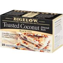 Bigelow Tea Toasted Coconut Almond Bark, Black Tea, 18 Count (Pack of 6), 108 Tea Bags Total