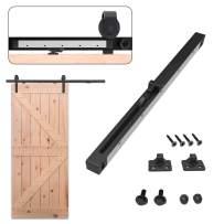 2PCS Rail Soft Close Mechanism Spring Buffer Damper for Sliding Barn Single Door Hardware Kit, Upgrade Metal Shell, Put on Sliding Track, Slide Silently