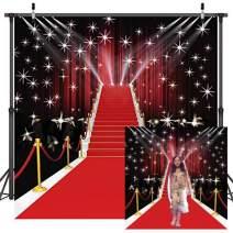 Dudaacvt 10x10ft Red Carpet Vinyl Photography Backdrop Customized Photo Background Studio Prop D051