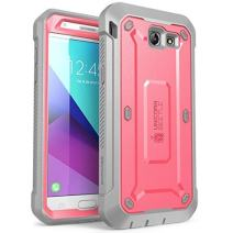 SUPCASE Unicorn Beetle Pro Series Case Designed for Galaxy J3 Emerge, Full-Body Rugged Holster Case with Built-in Screen Protector for Samsung Galaxy J3 Emerge (2017 Release) (Pink)