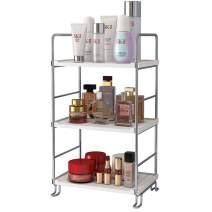 3-Tier Spice Rack Kitchen Bathroom Countertop Organizer Vanity Tray Cosmetic Makeup Storage Standing Shelf, Silver