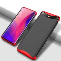 GKK Case for Oppo Find X Case, 3 in 1 Design + 360 Full Protection + Stylish Hit Color Cover (red Black)