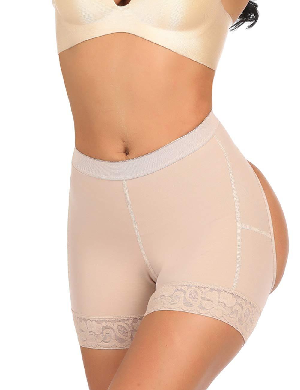 Sweetlover Women Shapewear Butt Lifter Body Shaper Tummy Control Panties Enhancer Underwear Girdle Booty Lace Shorts Seamless
