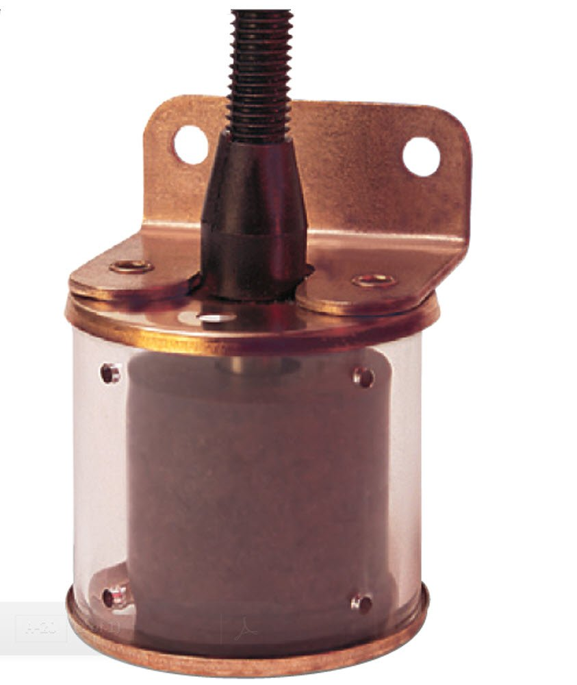 "Gems Sensors 43980 Buna N Float Bracket Mounted Slosh Shield Single Point Level Switch, 1-7/8"" Diameter, 1-3/8"" Actuation Level, 50VA, SPST/Normally Open"
