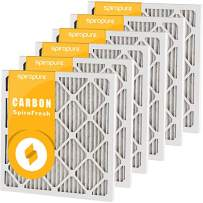 SpiroPure 19x24x1 MERV 8 Odor Reduction Air Filters - Made in USA (6 Pack)