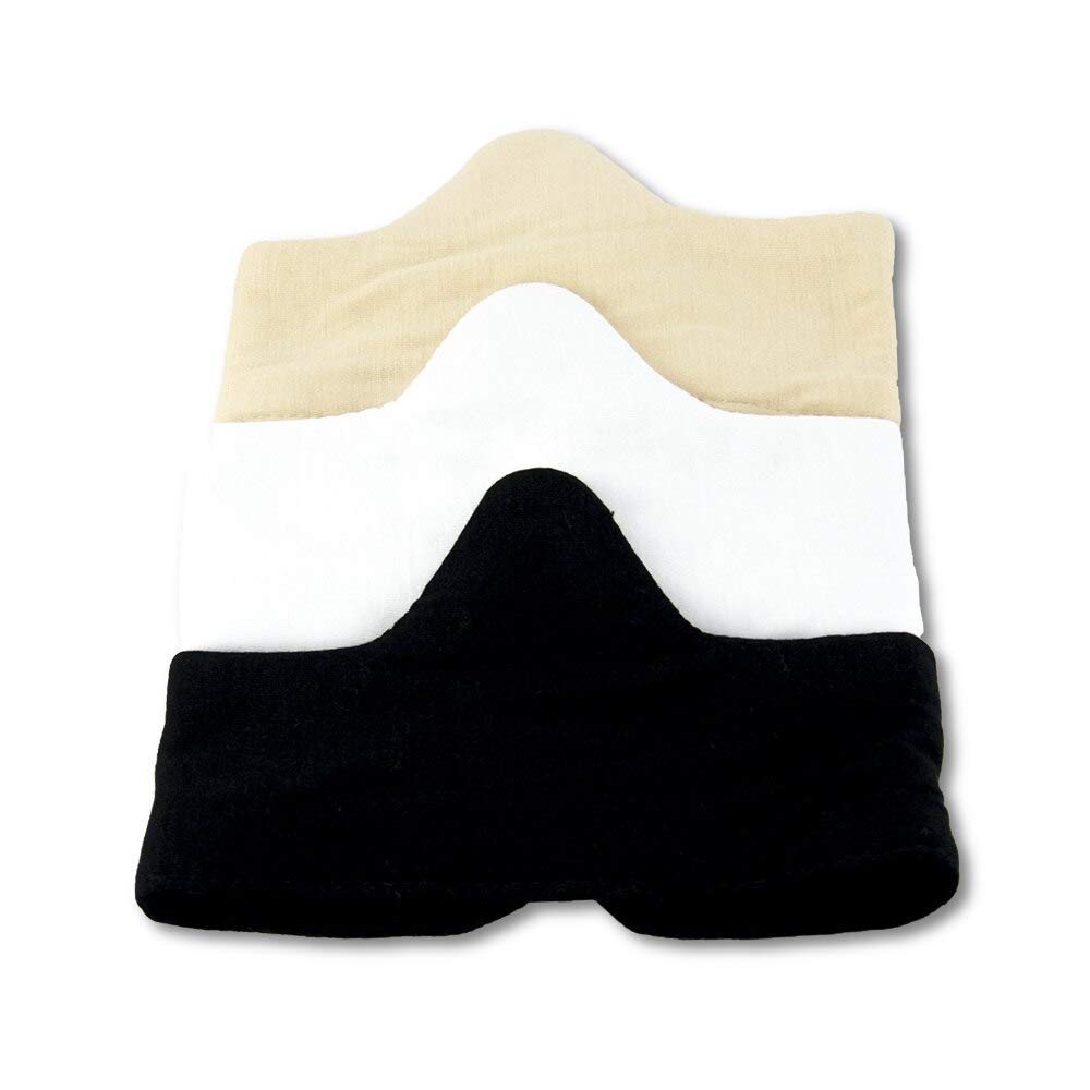 Pampering and Cozy Bamboo Cotton Blend Bra Liners 3pk X-Large Black, White Beige