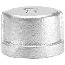 "Anvil 8700132908, Malleable Iron Pipe Fitting, Cap, 2"" NPT Female, Galvanized Finish"
