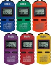 Robic SC-505W 12 Memory Stopwatch (Pack of 6), Assorted Colors
