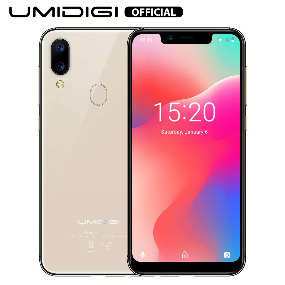 """UMIDIGI A3 Pro Mobile Phone Unlocked Dual 4G Volte Smart Phone 5.7"""" Incell 19:9 Full-Screen Display 3GBRAM+16GB ROM 2+1 Triple Slot Face Unlock 12MP + 5MP Dual Camera Android 9.0[Rose Gold]"""