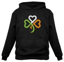 Shamrock Ireland Clover Hearts for St. Patrick's Day Women Hoodie