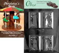 Cybrtrayd Book Chocolate Candy Mold with Chocolatier's Guide