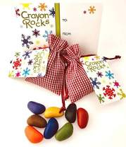 Crayon Rocks in a Special Occasion Bag (Christmas Special, Red Gingham - 2 pack)