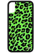 Wildflower Limited Edition Cases for iPhone X and XS (Neon Green Leopard)