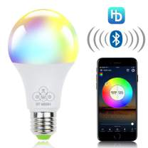 ALITOVE Smart Light Bulb Bluetooth Mesh RGB White Color Changing Dimmable LED Bulbs, 4.5W 350LM E26 RGBW LED Night Lights, iOS Android App Controlled, Music Sync, Group Control, Timer Function